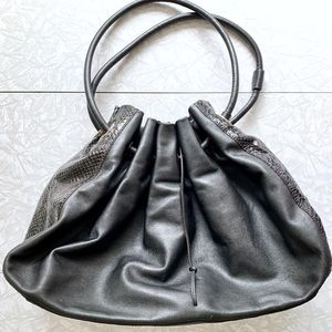 HTF Kate Spade Leather/Snakeskin Drawstring Hobo